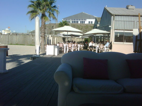 Grand Africa Cafe & Beach: Sitting on a lounger on the beach at The Grand