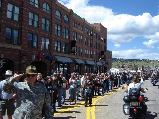 In front of the Double Eagle Hotel and Casino during the POW/MIA ride to Cripple Creek event.
