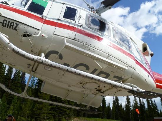 Canadian Mountain Holidays : helicopter pick-up