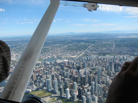 Harbour Air Seaplanes: A view of Vancouver from the plane.