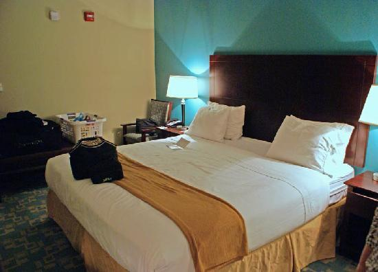 Holiday Inn Express Hotel & Suites Salem: The king size bed