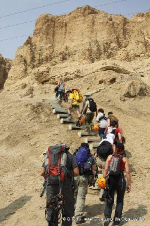 Dead Sea: The beginning of the trip - the climb
