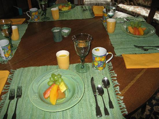 Downtown Strollers B&B : fresh fruit to start your morning