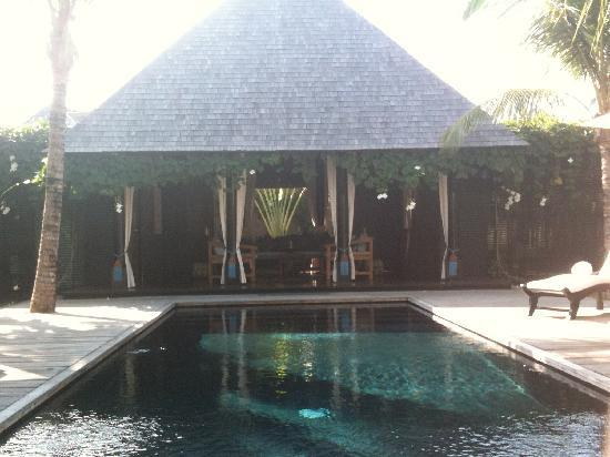 Villa Samuan: View from Living room to pool and BEdroom 2 & 3