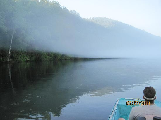 Norfork Trout Dock: Early morning fog