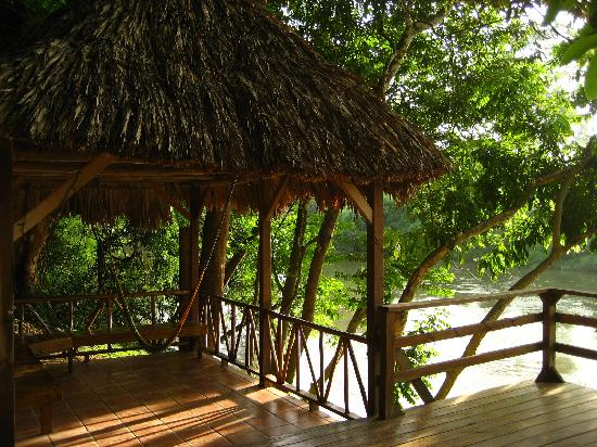 Cohune Palms River Cabanas: down by the river