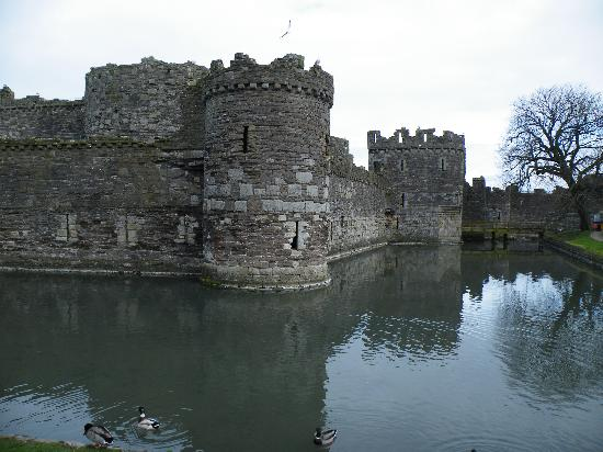 Beaumaris Castle moat.
