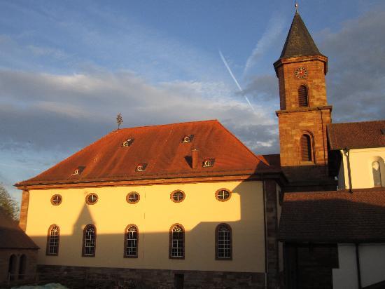 Kloster Hornbach: Blick aus dem Hotelzimmer