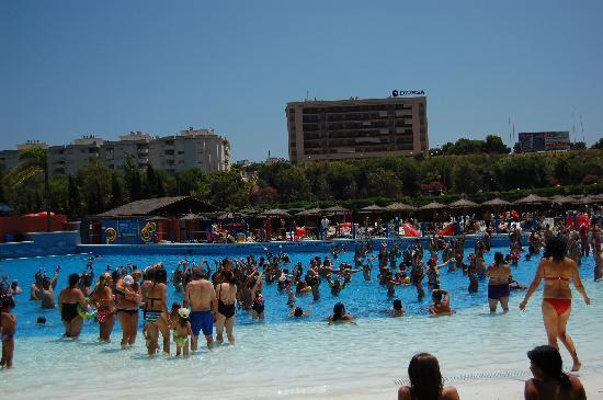 Aqualand Torremolinos: The wave pool - aqua aerobics session