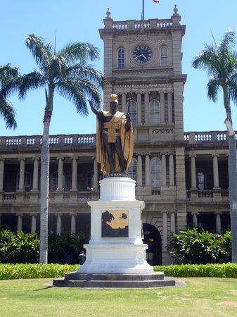 King Kamehameha Statue: King Kamehamea The Great, Kopie der Originalstatue