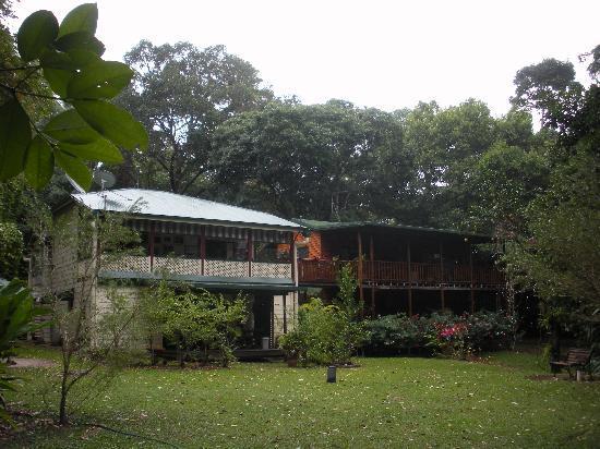 Red Mill House in Daintree: Accommodation plus breakfast area (top left veranda)