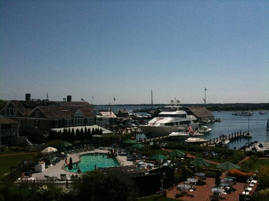 "Harborside Inn: View from a ""balcony center"" room"
