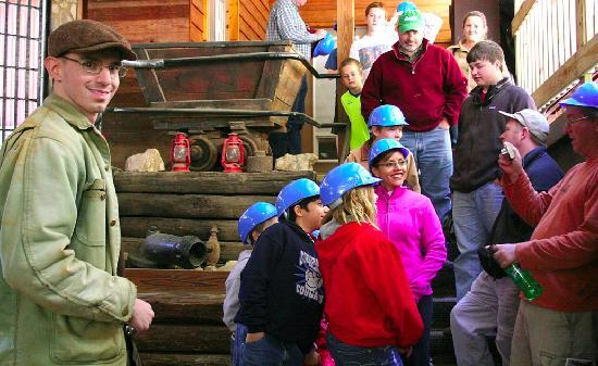 Consolidated Gold Mine: A tour group heads underground.  Good Luck Gold Miners!