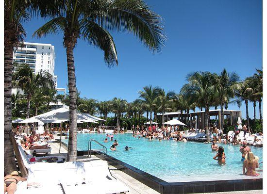 Crowded Pool Our View From Cabana Picture Of W South Beach