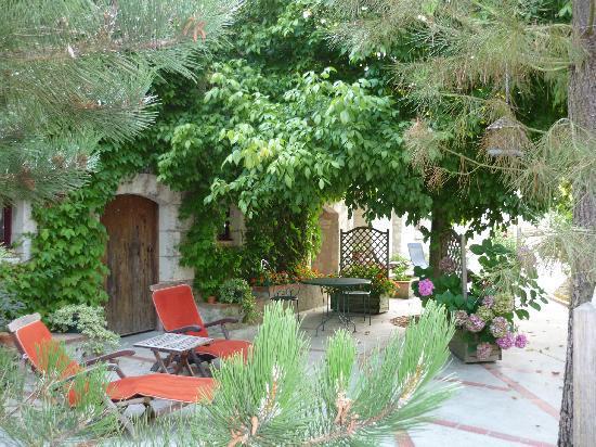 Chambres d'Hotes de Charme Les Bournais: Terrasse et jardin