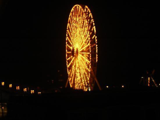 Ocean 7: view of ferris wheel from the balcony