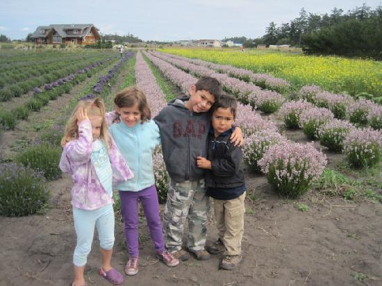 Lavender Wind Farm: Happy faces after Lavender Ice Cream!