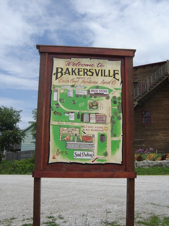 Bakersville Pioneer Village: site map