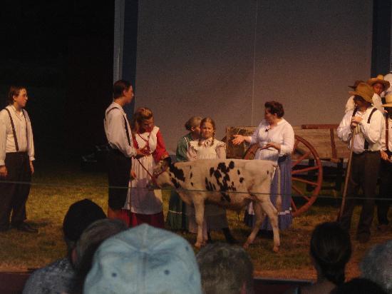 Laura Ingalls Wilder Museum: peagent scene