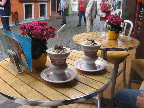Mainz, Tyskland: Rudesheim coffee!