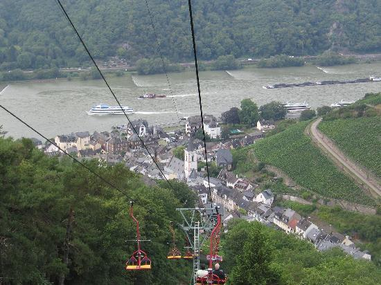 Walking Mainz : Chair lift to Assmannshausen