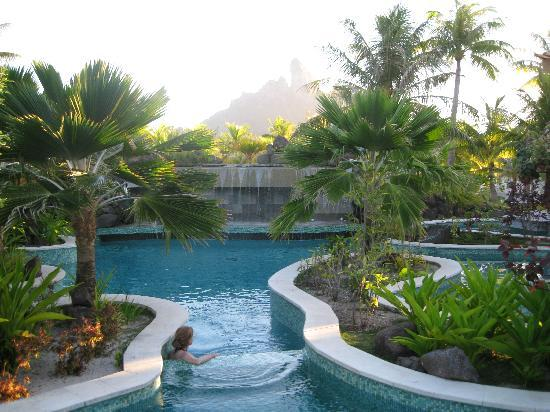 The St. Regis Bora Bora Resort: Glimpse of a swimming pool