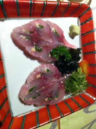 Shunka: sashimi jurel