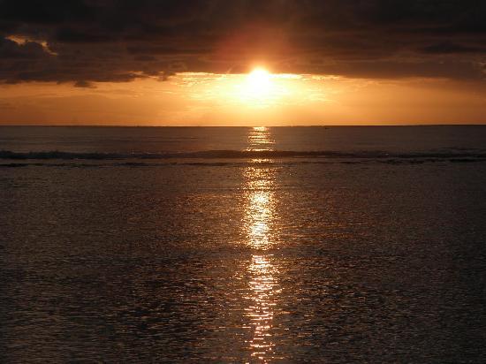 Hotel Le Recif: coucher de soleil