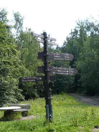 Raven Crag (Rabenklippe): Säperstelle - hier scheiden sich die Wege - entweder über das Kreuz des Deutschen Ostens oder di