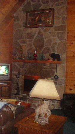 High Valley Rentals: Sequoia, fireplace