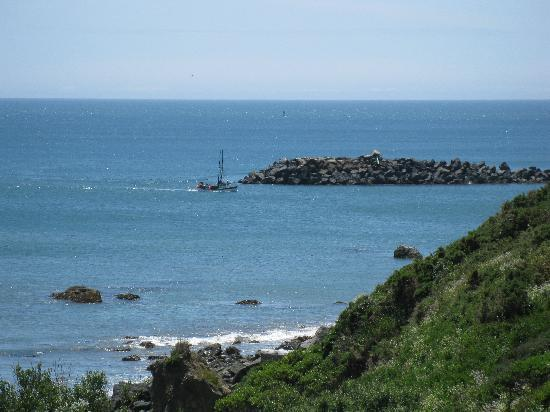 Port Orford - Battle Rock Park, view of harbour area to the north