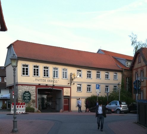 Schwalbach, Germany: View of the restaurant/hotel from the street