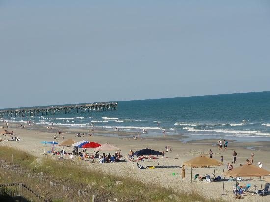 Surfside Beach, SC: vue de la mer du balcon