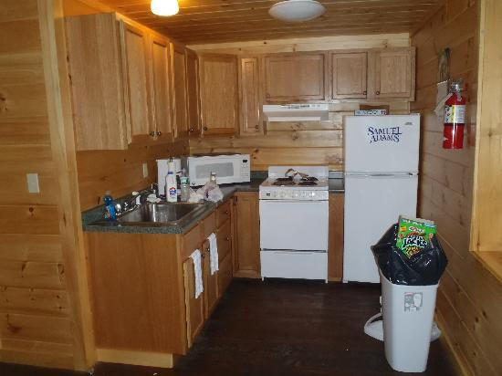 North Country Rivers: Kitchen in cabin