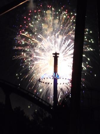 Kings Island: Fireworks, better than any we saw on July 4th.