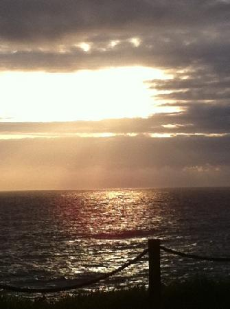Depoe Bay, OR: pic from timeshare at sunset