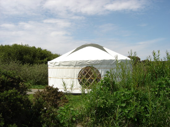 Ty Parke Farm Camping: One of our luxury yurts for holidays with a difference in Pembrokeshire.