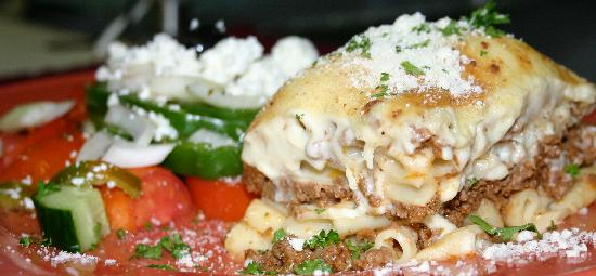 La Casa Ouzeria Restaurant: The Pastichio (Greek Lasagna) Minas' Favorite