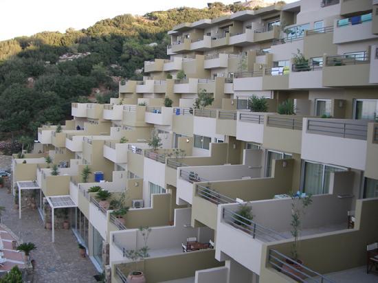 Blue Marine Resort & Spa: Vue des chambres terrasses
