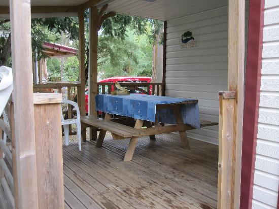 Camping Arinella Bianca: Foto Balcone esterno Mobil Home