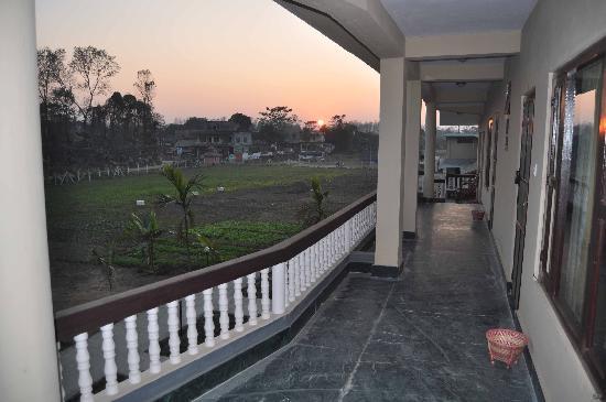Hotel Monalisa Chitwan: view from balcony