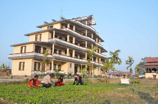 Hotel Monalisa Chitwan: organic vegetable garden
