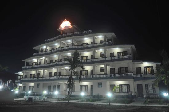 Sauraha, Nepal: night view of hotel