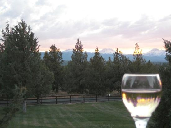 Juniper Acres Bed and Breakfast: Vino on the deck