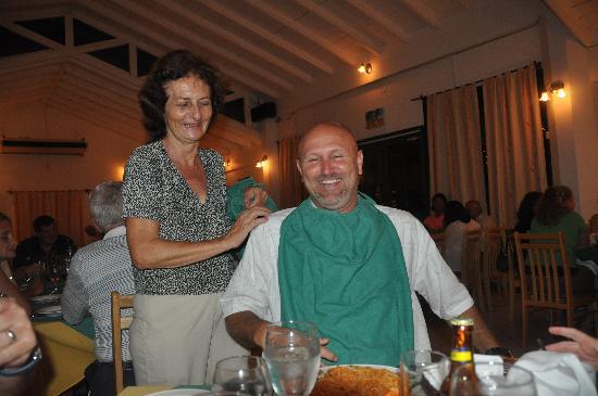 Ciao Ristorante Italiano: the homemade bibs, wow ILDE :)