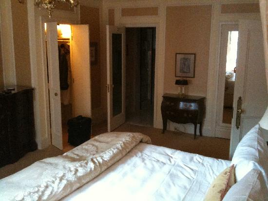The Sherry-Netherland Hotel: Bedroom from window looking at en-suite