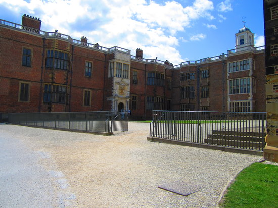 Temple Newsam: The main entrance to the house.