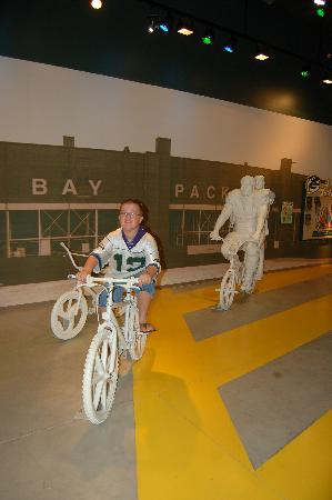 Green Bay Packer Hall of Fame: A chance to look like you are riding with the players.