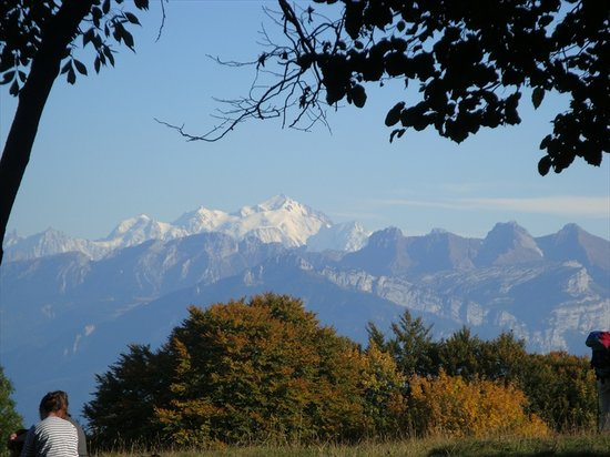 Geneva, Switzerland: Mont Blanc seen from Mont Salèves
