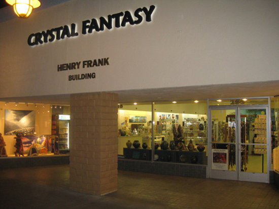 Crystal Fantasy storefront on Palm Canyon Drive
